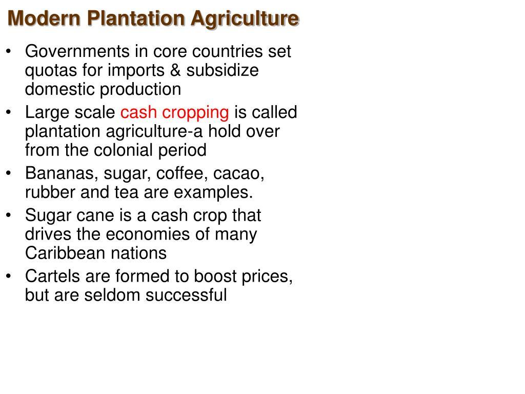 Modern Plantation Agriculture