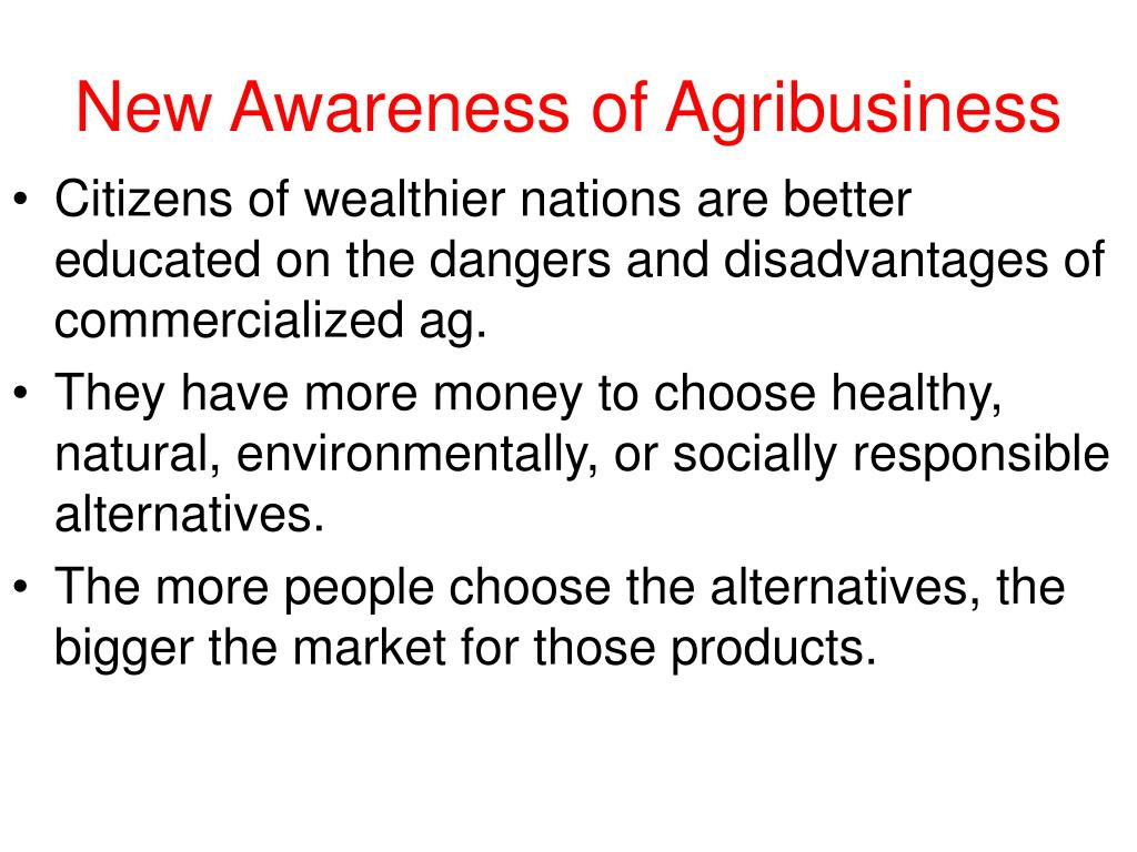 New Awareness of Agribusiness