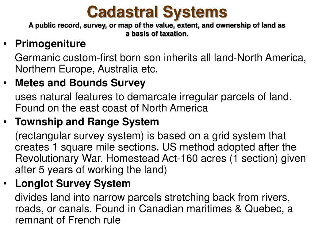 Cadastral Systems