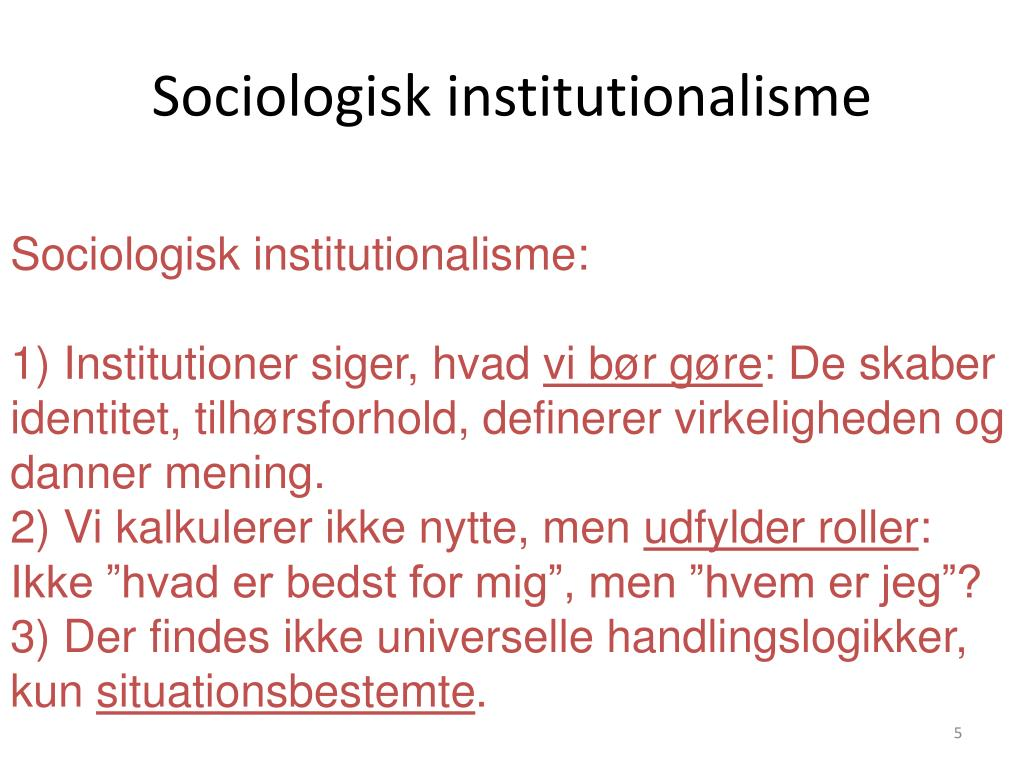 Sociologisk institutionalisme