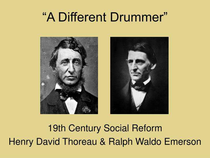 the path to transcendentalism in the literary works of henry david thoreau ralph waldo emerson and j