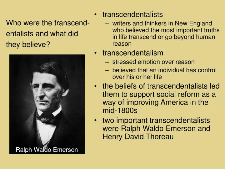 Who were the transcend-