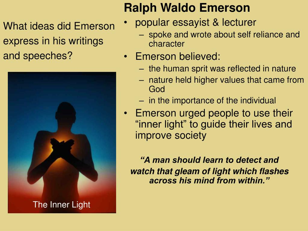 What ideas did Emerson