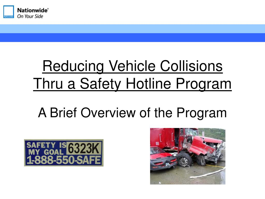 Reducing Vehicle Collisions