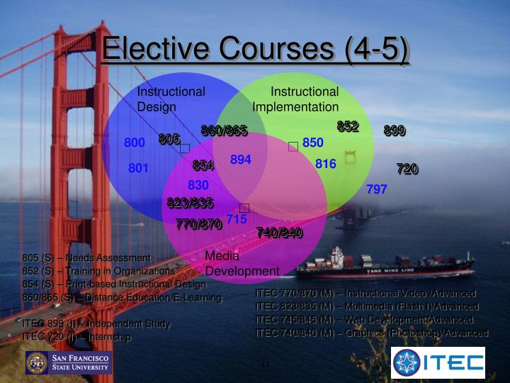 Elective Courses (4-5)