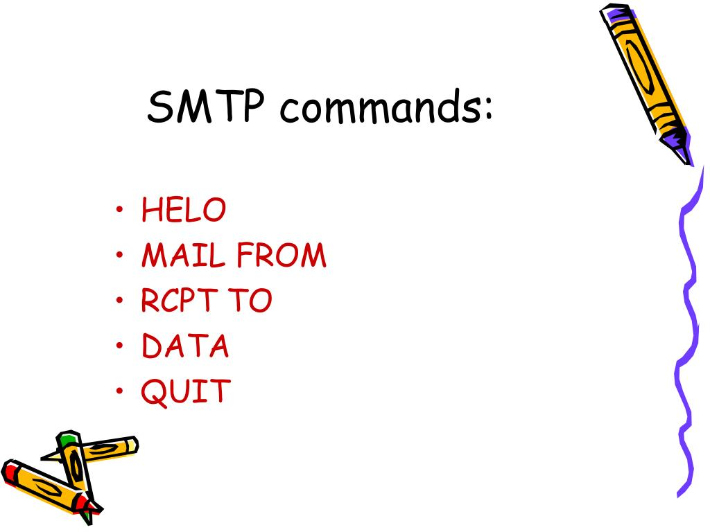 SMTP commands: