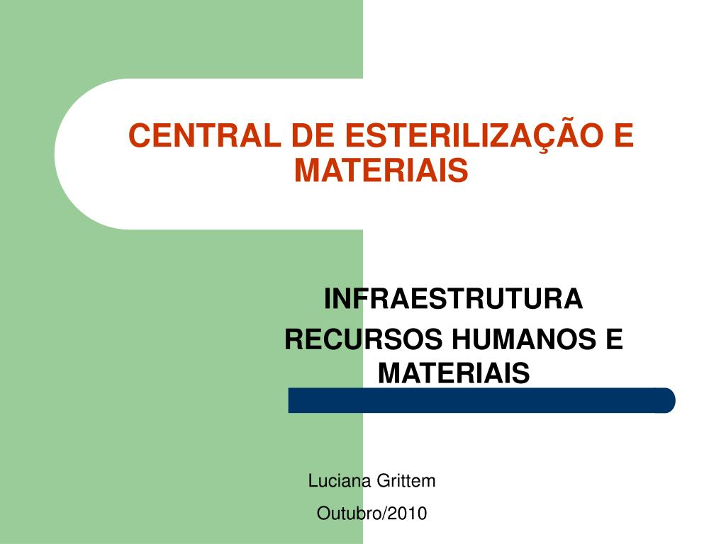 central de esteriliza o e materiais l.