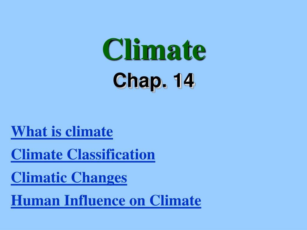 climate l.