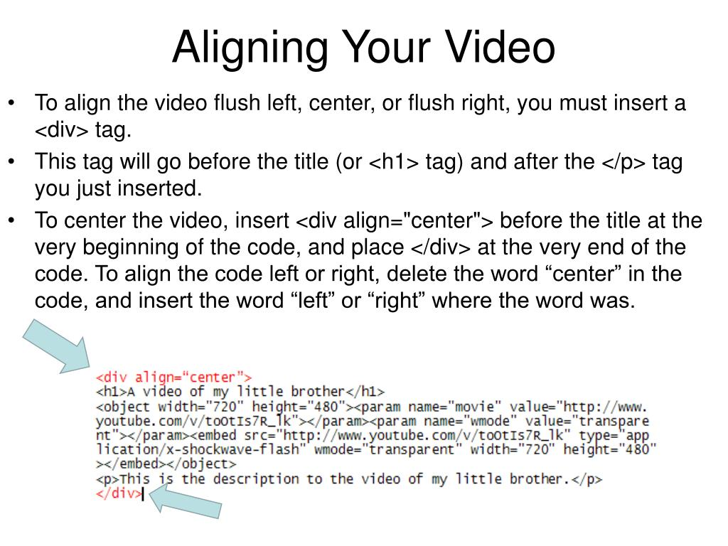 Aligning Your Video