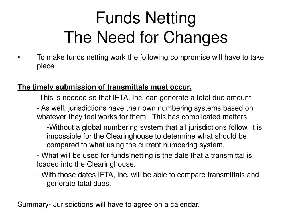 Funds Netting