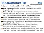 personalised care plan