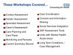 these workshops covered