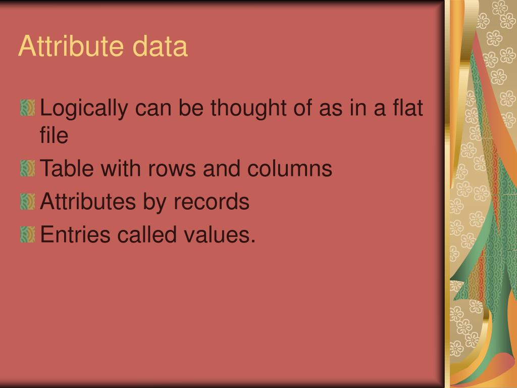 Attribute data
