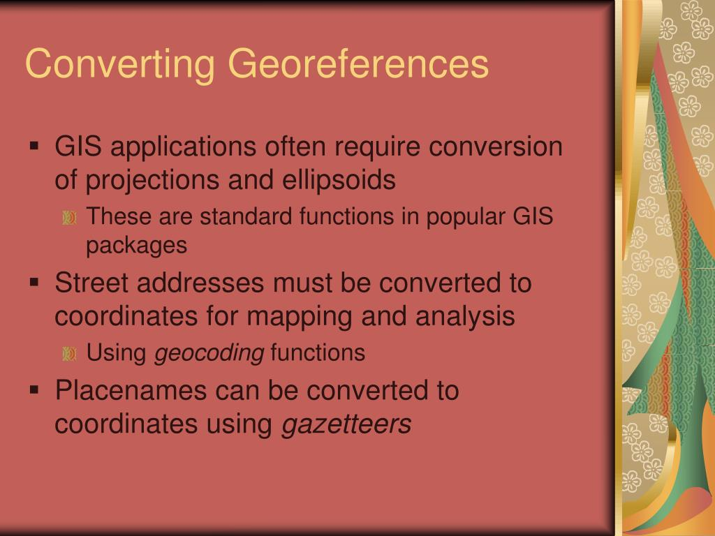 Converting Georeferences