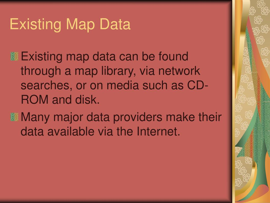 Existing Map Data