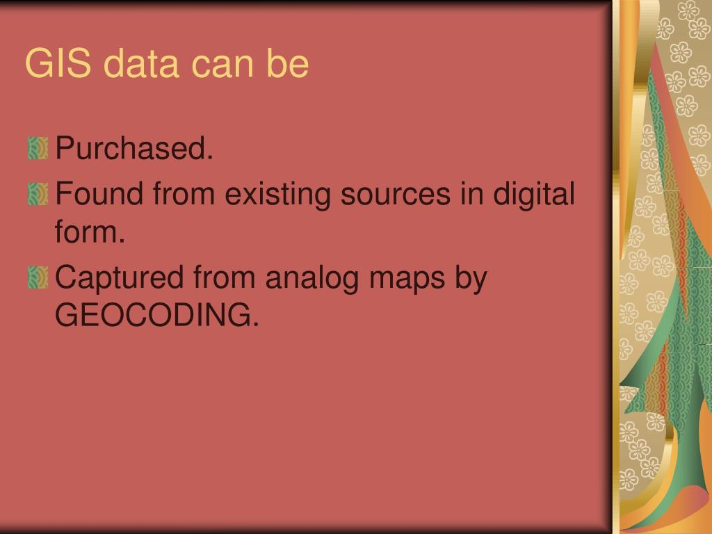 GIS data can be