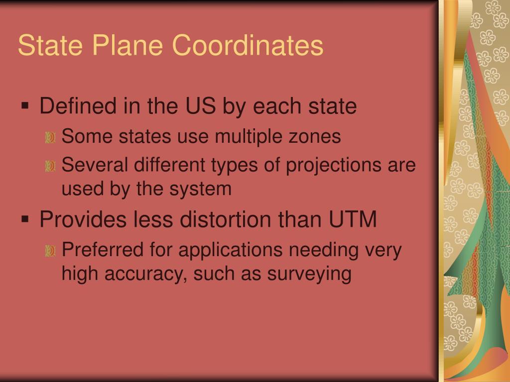 State Plane Coordinates