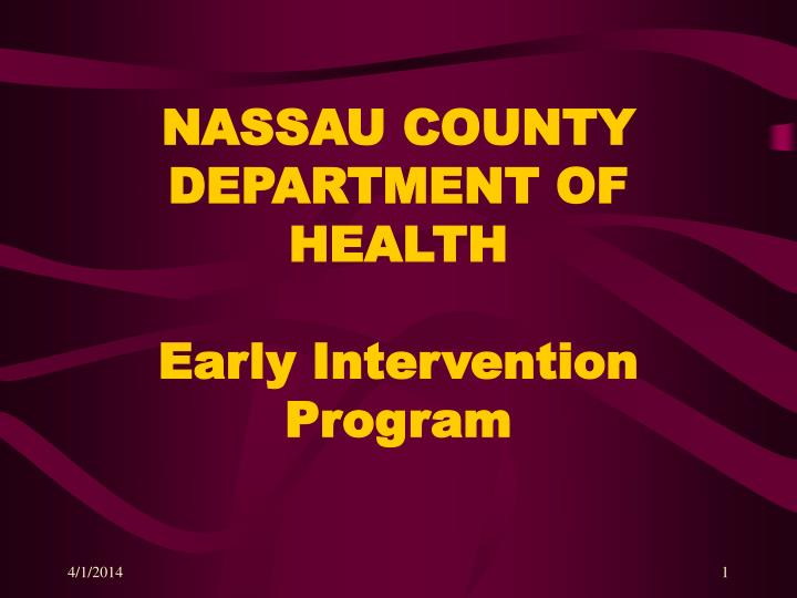 nassau county department of health early intervention program n.