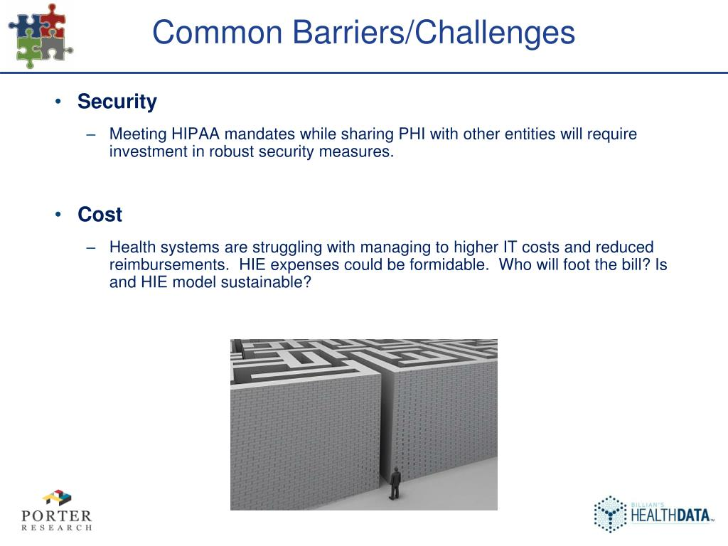 Common Barriers/Challenges