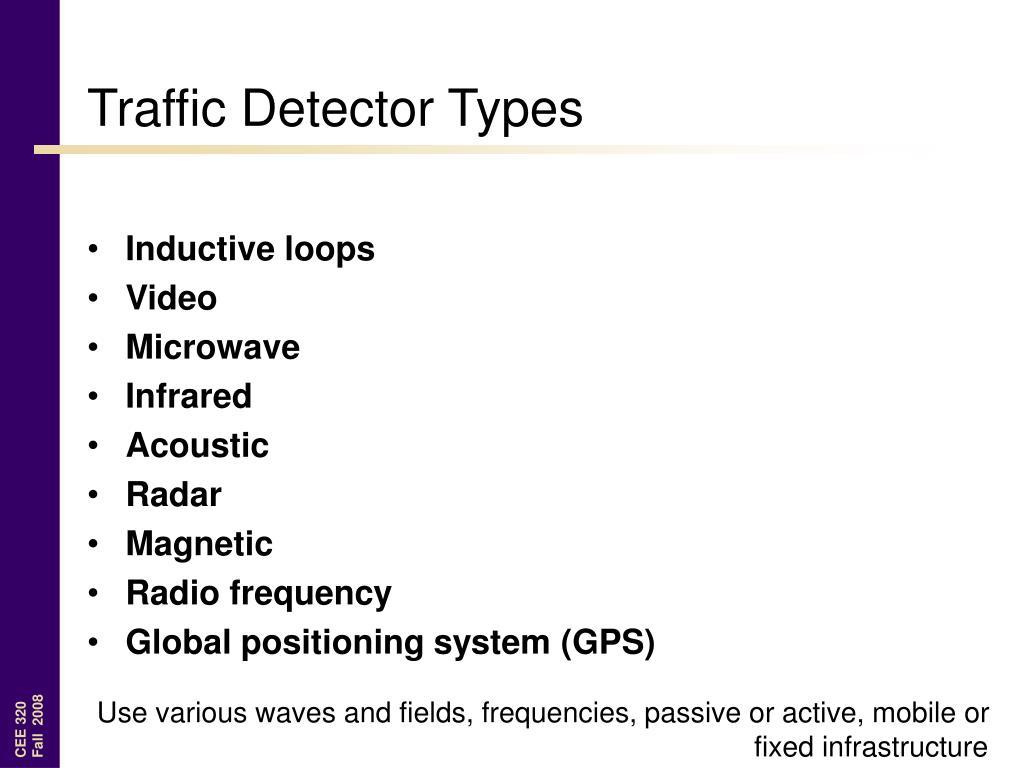 Traffic Detector Types