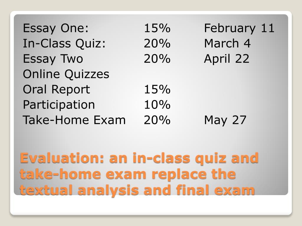 Essay One:15%February 11