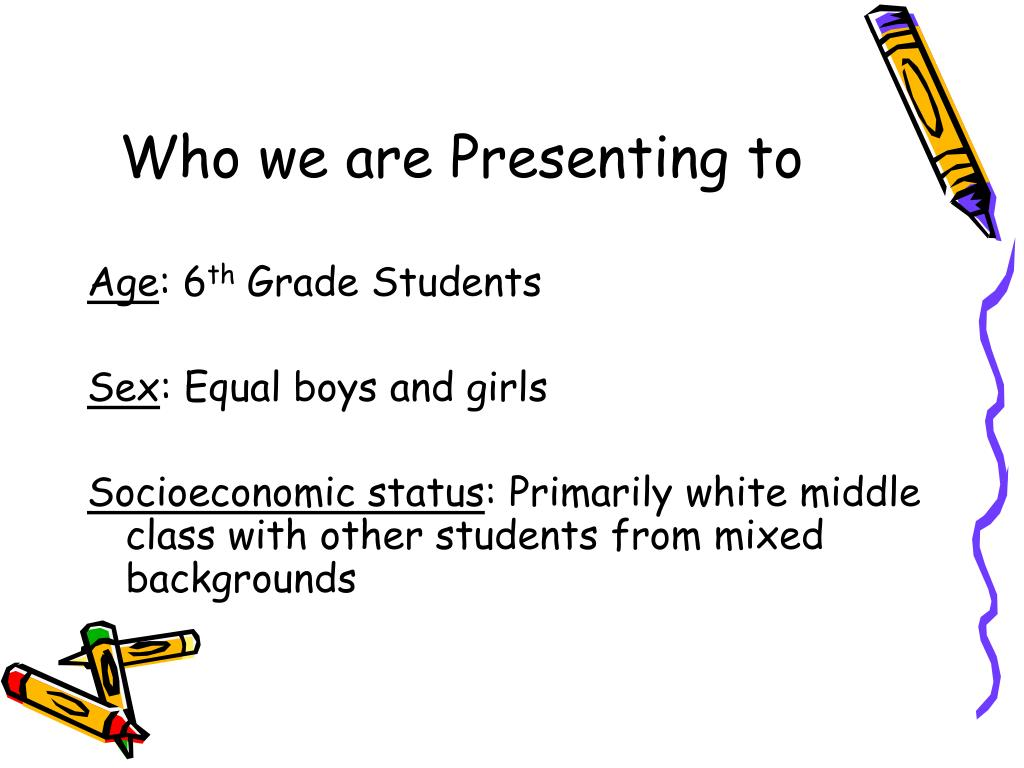 Who we are Presenting to