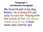 p aragraph 1 introductory paragraph