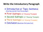 write the introductory paragraph