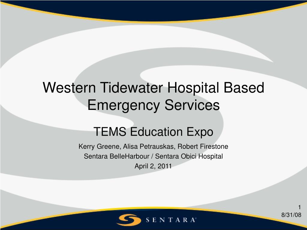 western tidewater hospital based emergency services
