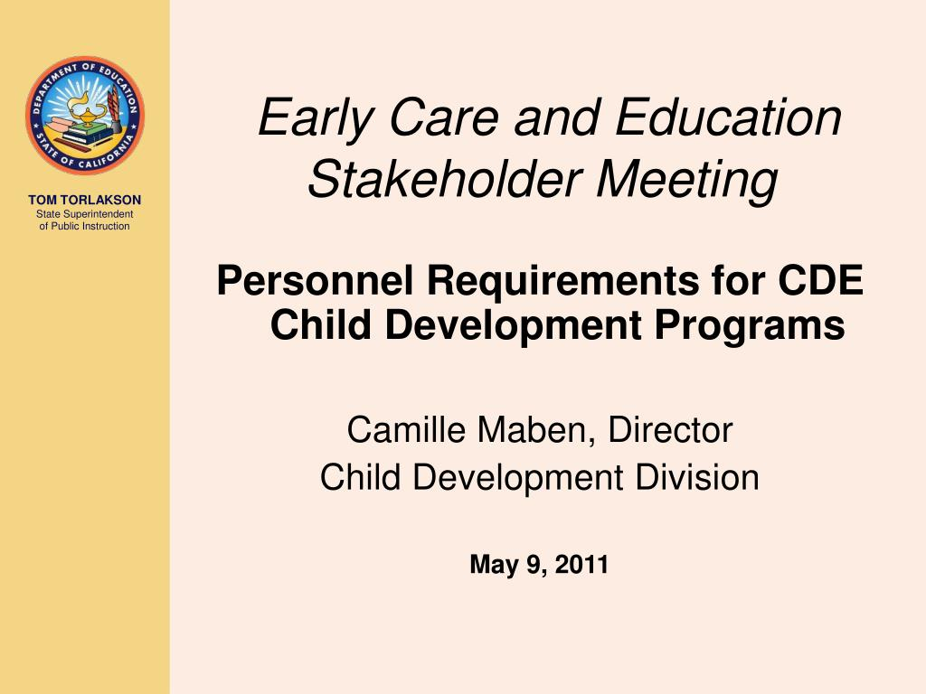 early care and education stakeholder meeting l.