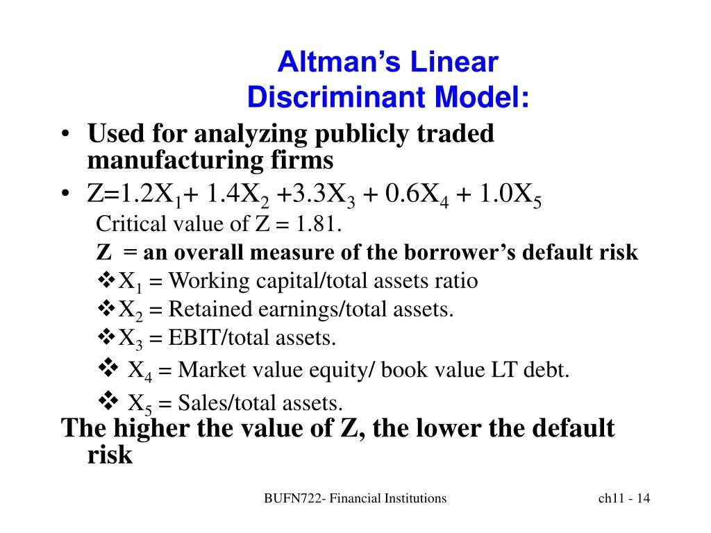 Altman's Linear