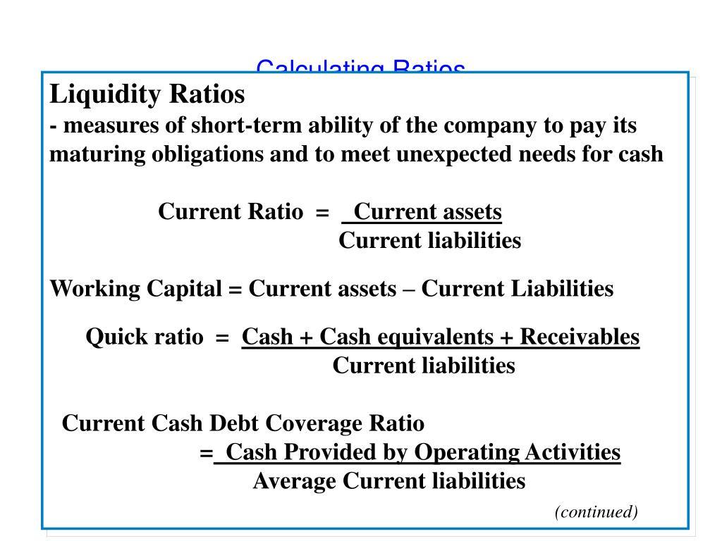 Calculating Ratios