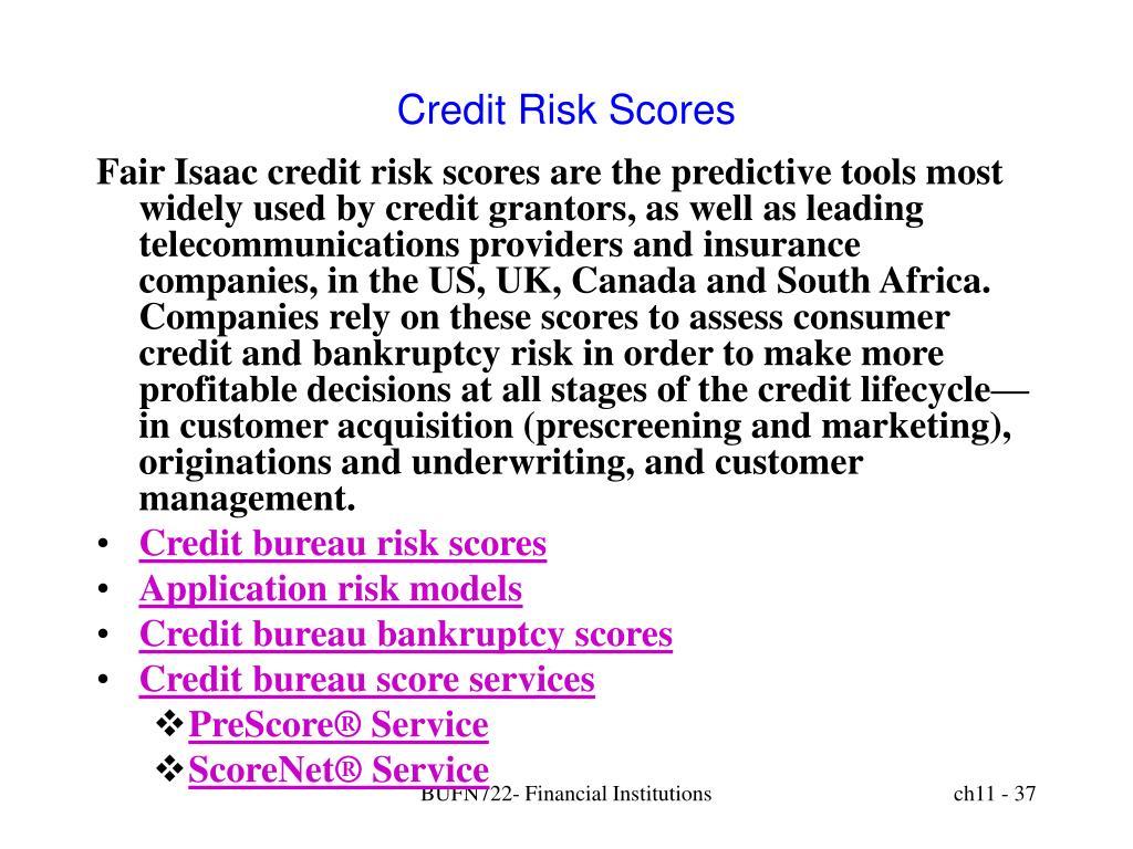 Credit Risk Scores