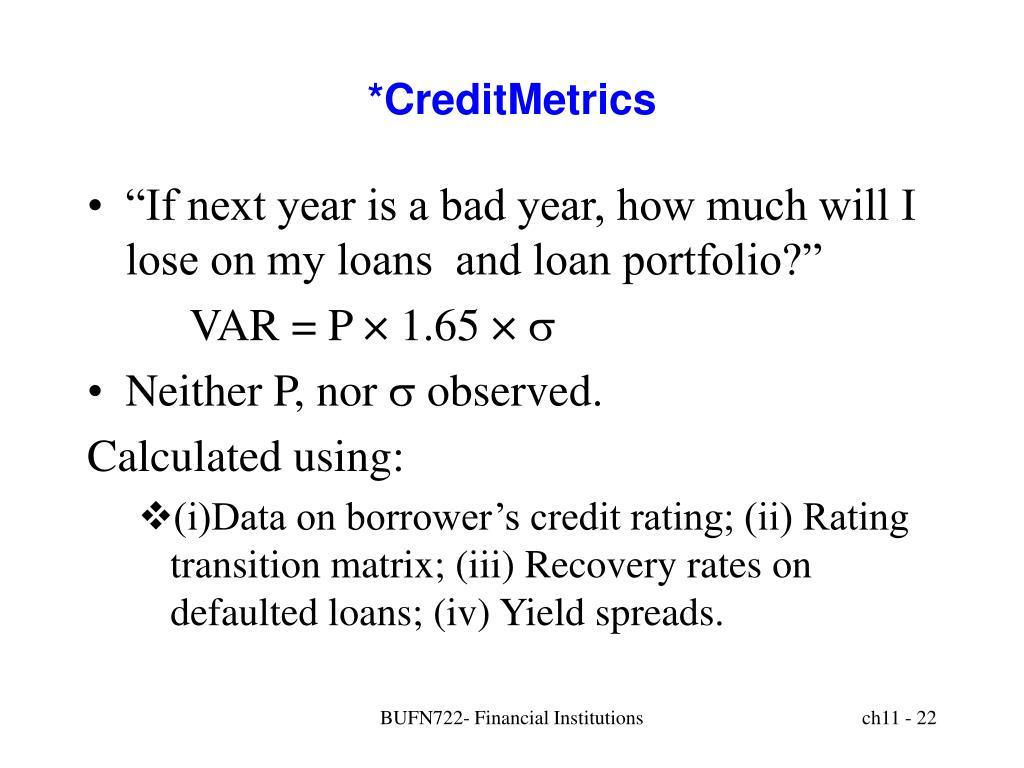 *CreditMetrics