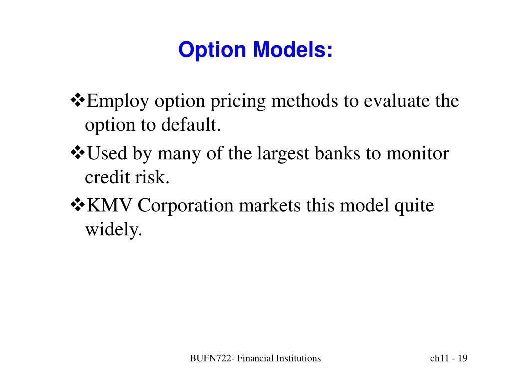 Option Models: