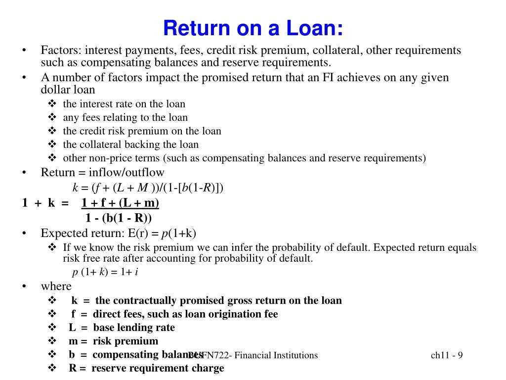 Return on a Loan: