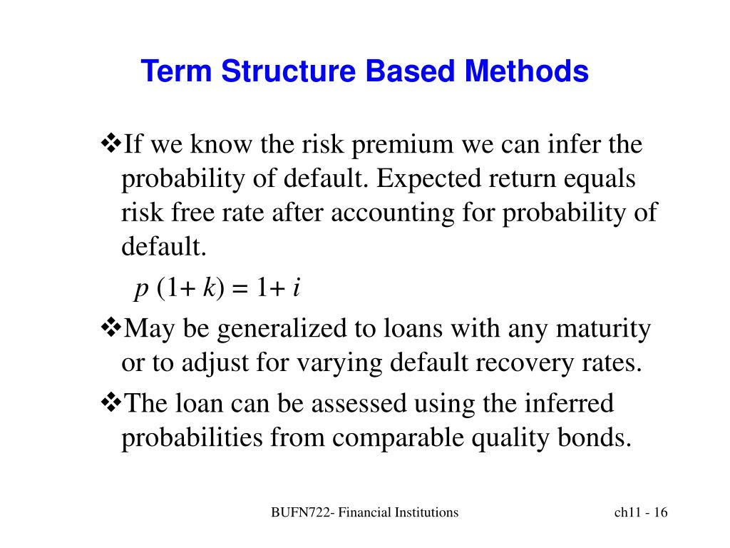 Term Structure Based Methods