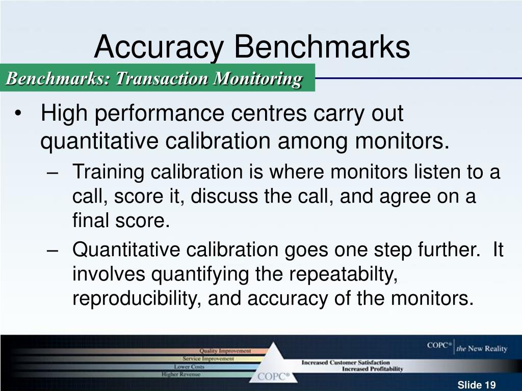 Accuracy Benchmarks