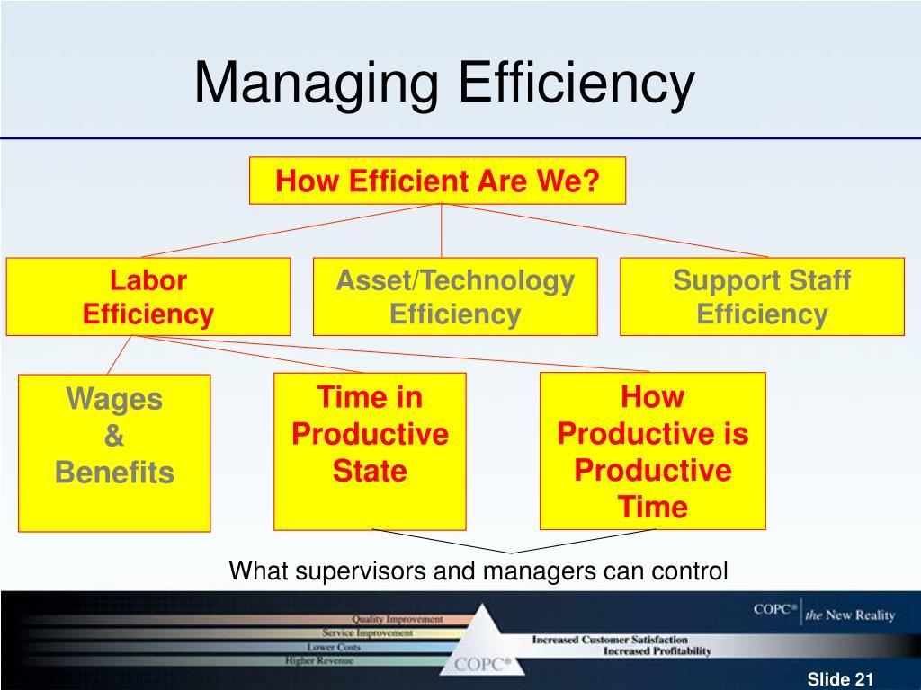 Managing Efficiency