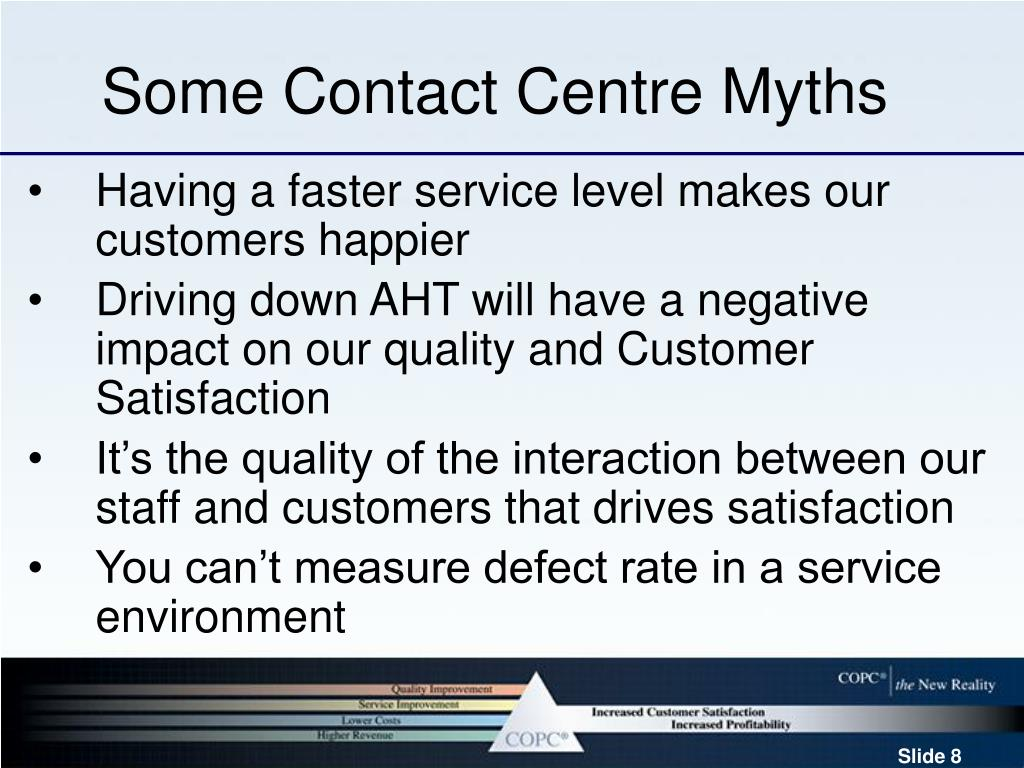 Some Contact Centre Myths