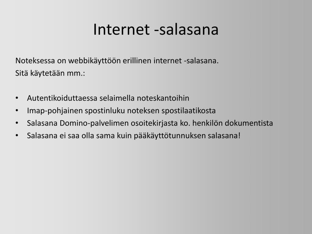 Internet -salasana