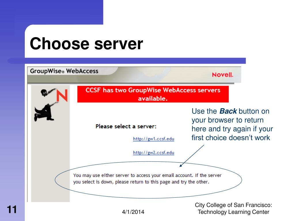 Choose server