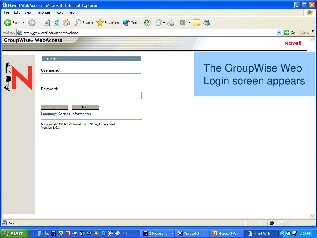 The GroupWise Web