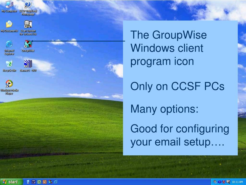 The GroupWise Windows client program icon