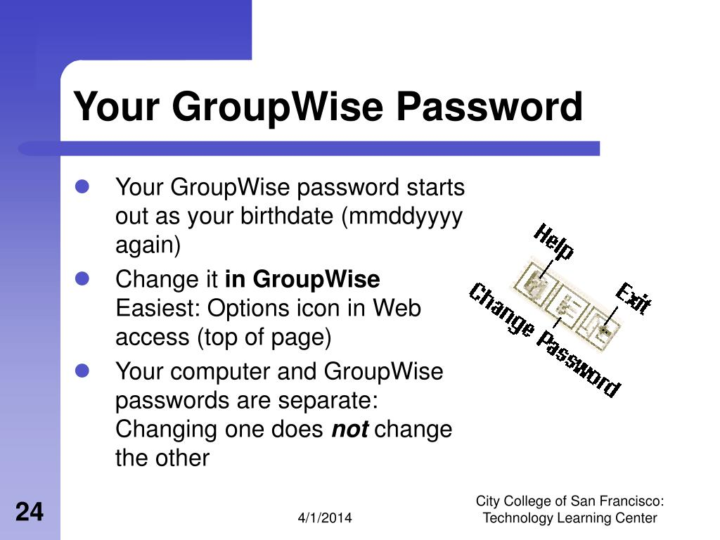 Your GroupWise Password