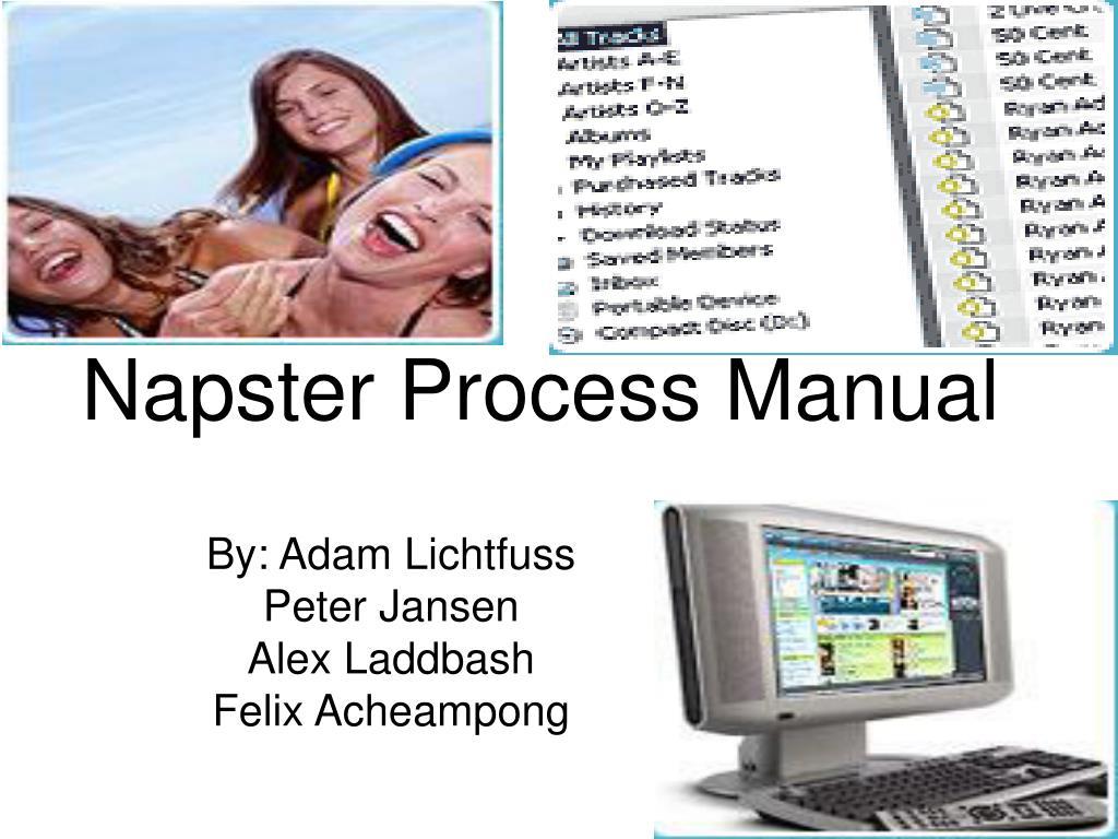 napster process manual l.