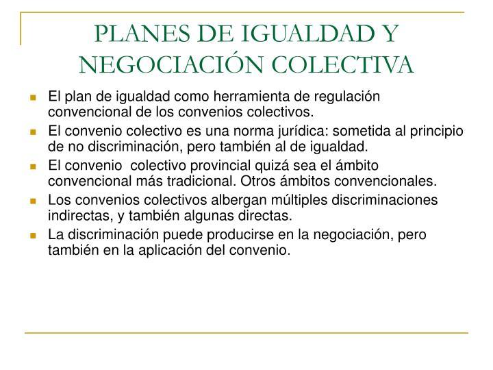 Planes de igualdad y negociaci n colectiva