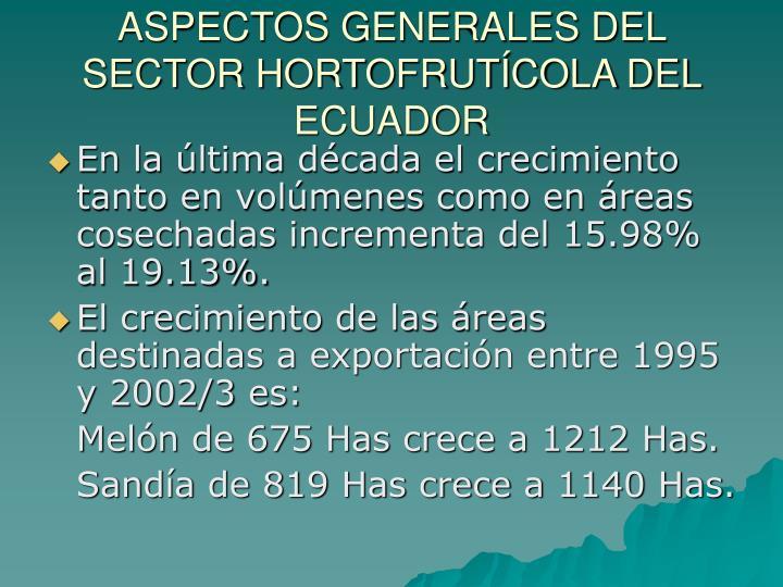 Aspectos generales del sector hortofrut cola del ecuador3