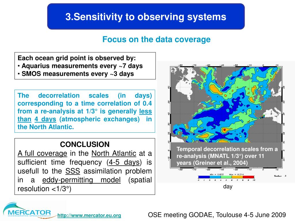 3.Sensitivity to observing systems
