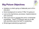 big picture objectives